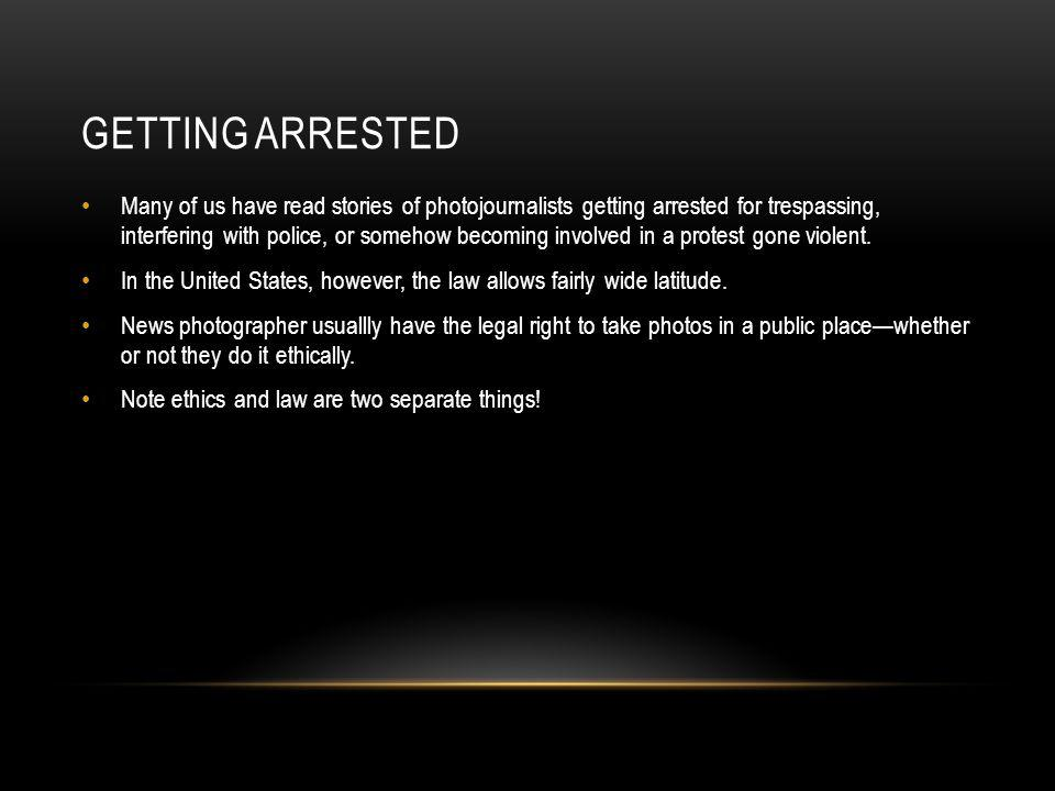 Getting arrested
