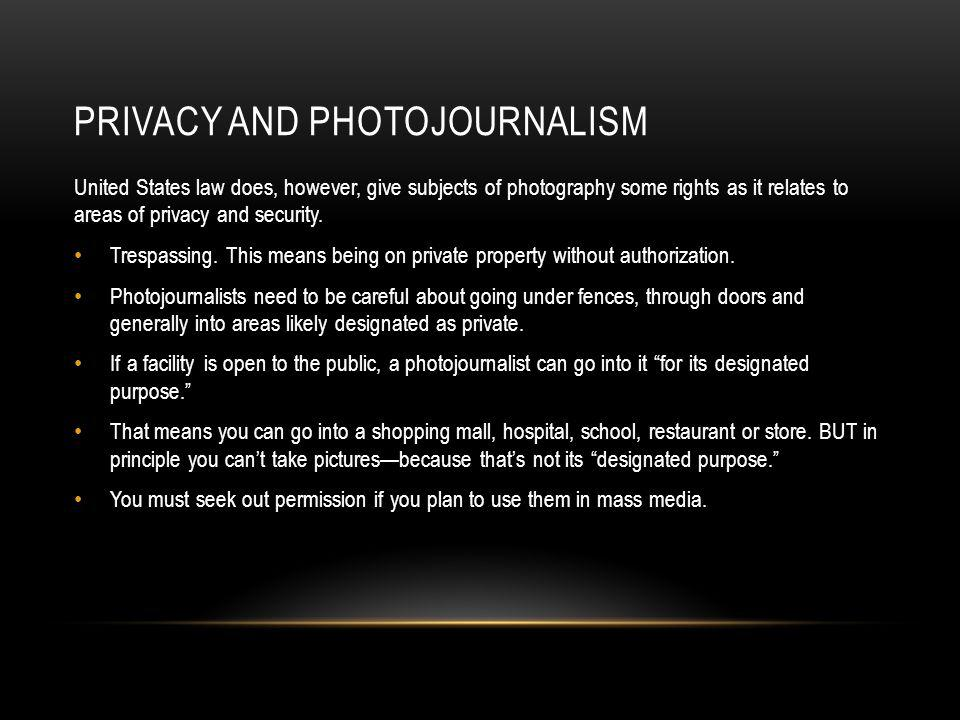 Privacy and photojournalism