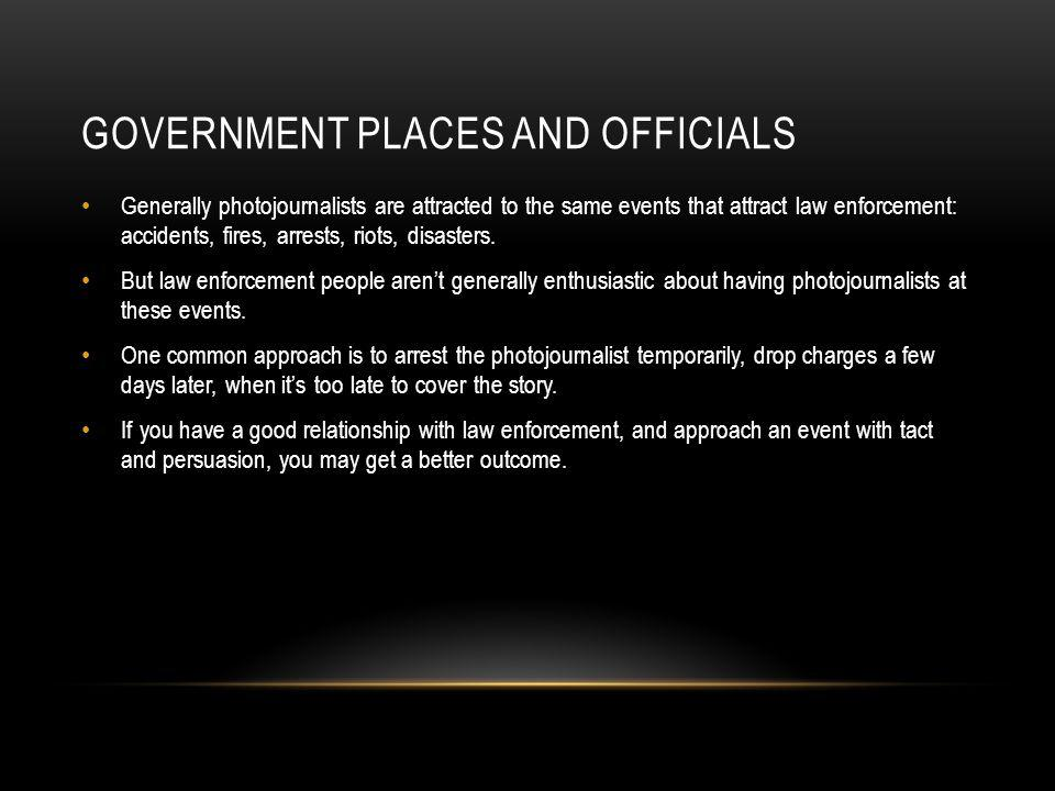 Government places and officials