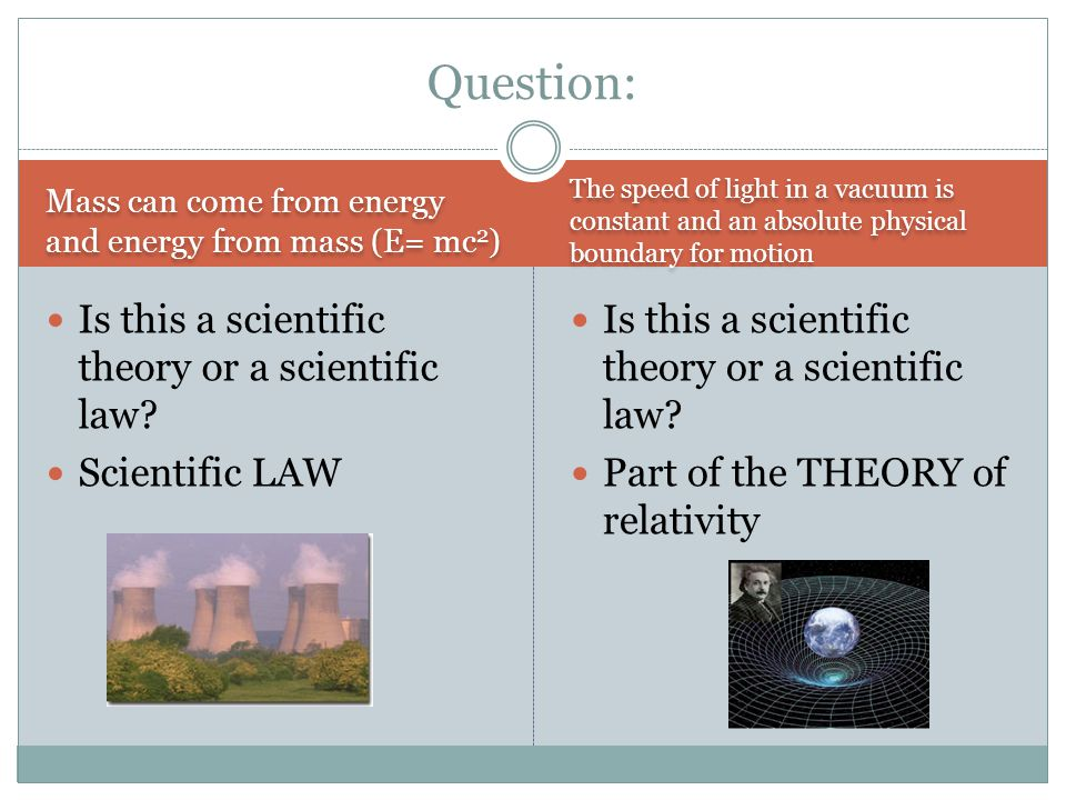 Question: Is this a scientific theory or a scientific law
