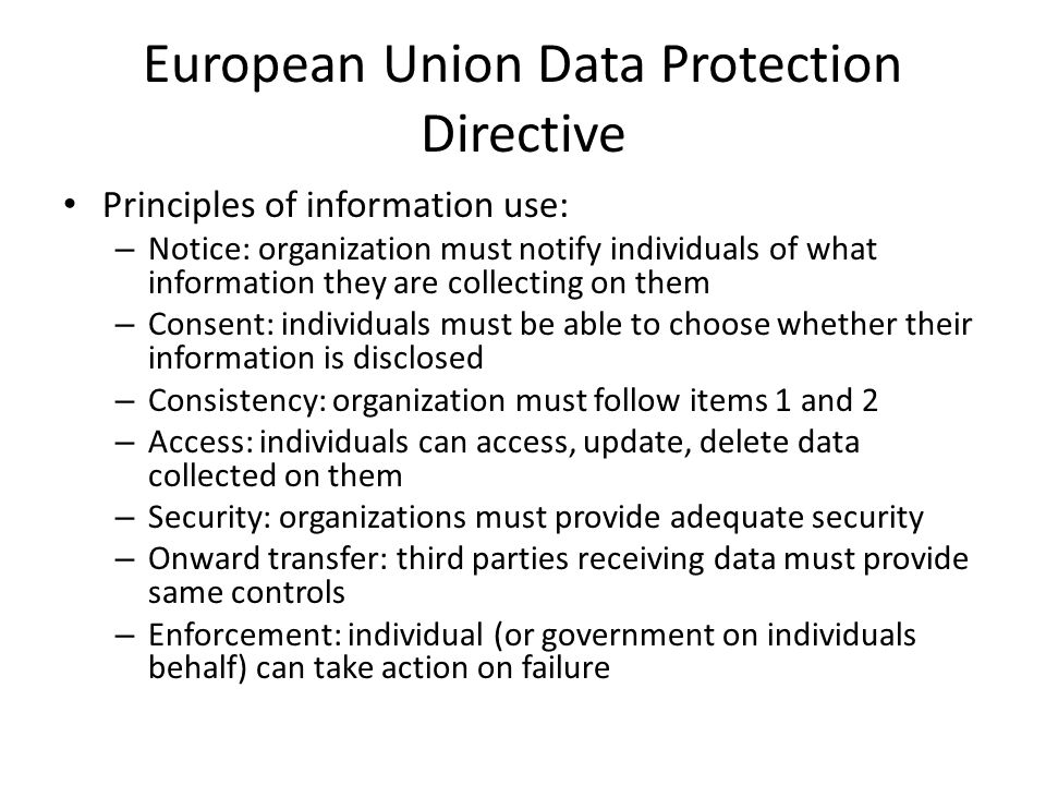 European Union Data Protection Directive