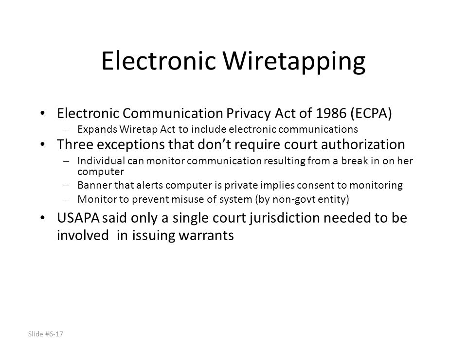 Electronic Wiretapping