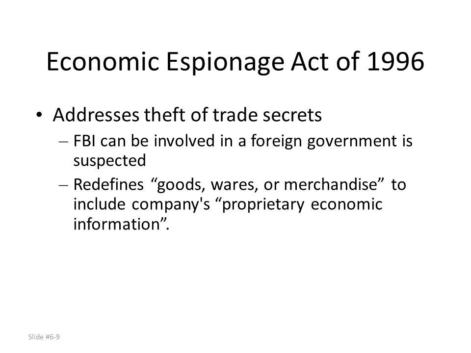 Economic Espionage Act of 1996