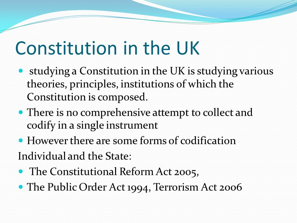 Constitution in the UK