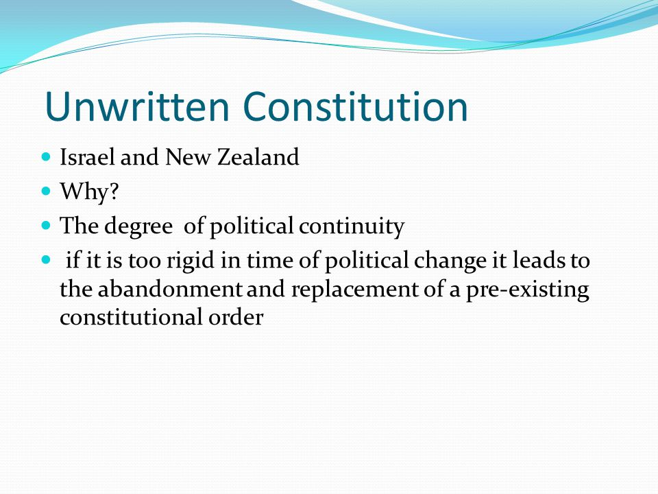Unwritten Constitution