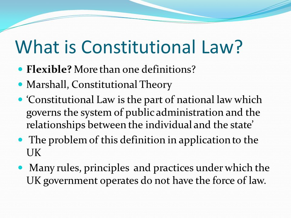 What is Constitutional Law