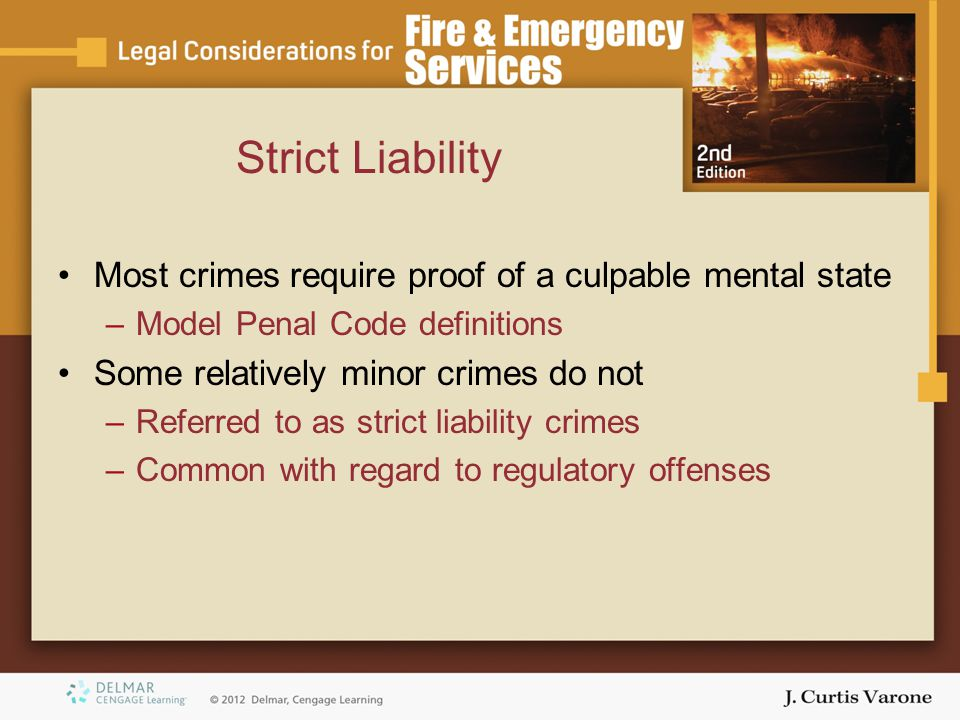 moral penal code and strict liability Criminal liability of corporations implemented a comprehensive administrative-penal system that belief that the moral stigma of criminal sanctions is.