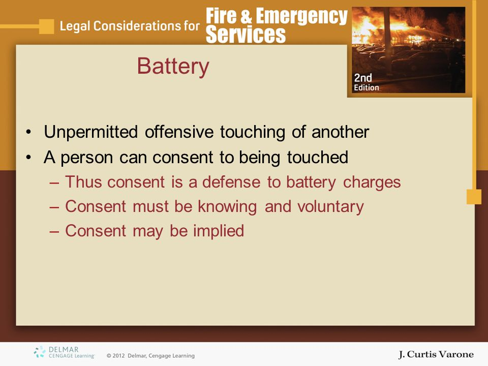 Battery Unpermitted offensive touching of another