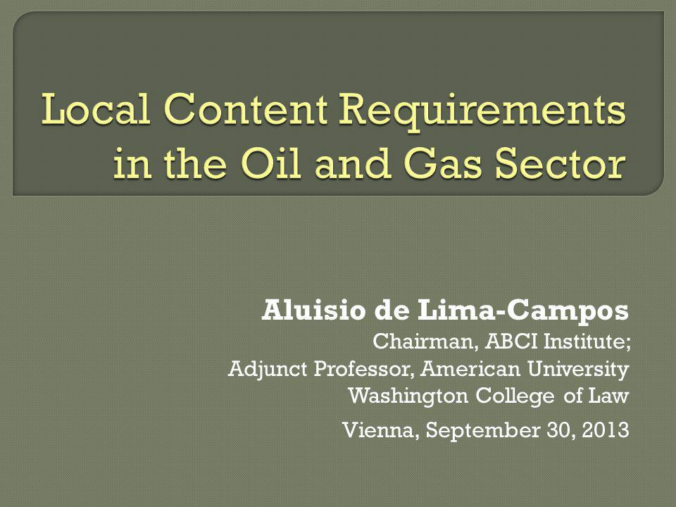 Local Content Requirements in the Oil and Gas Sector