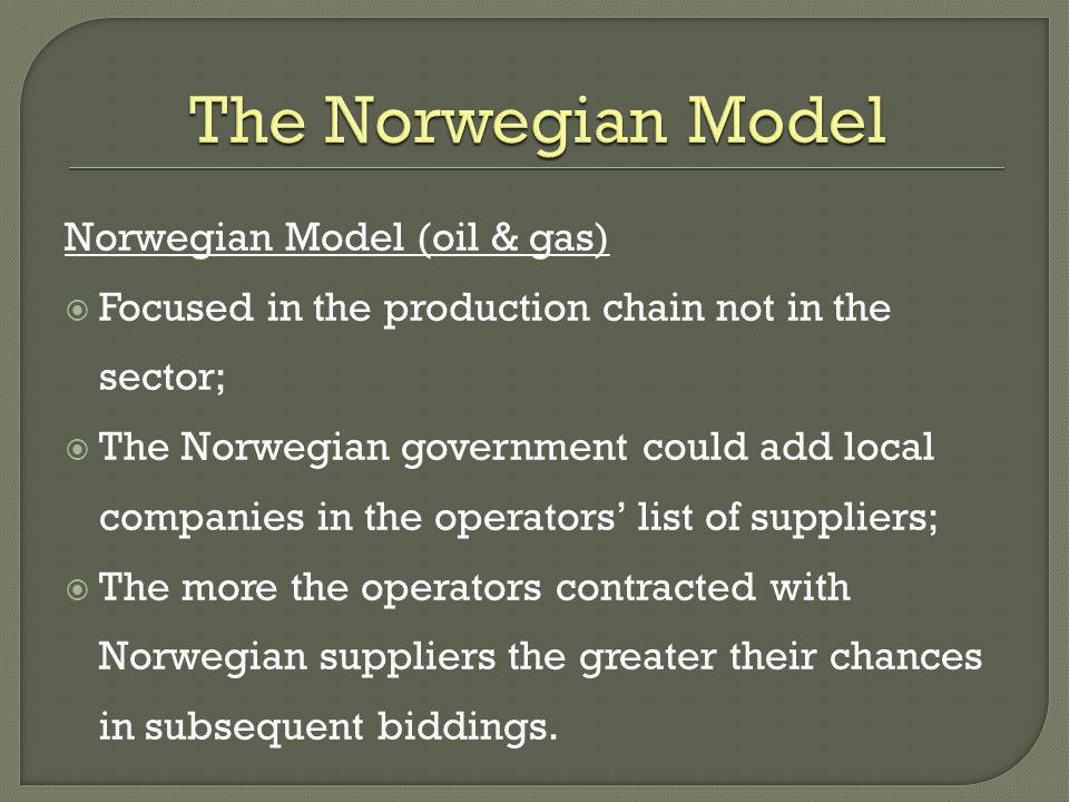 The Norwegian Model Norwegian Model (oil & gas)