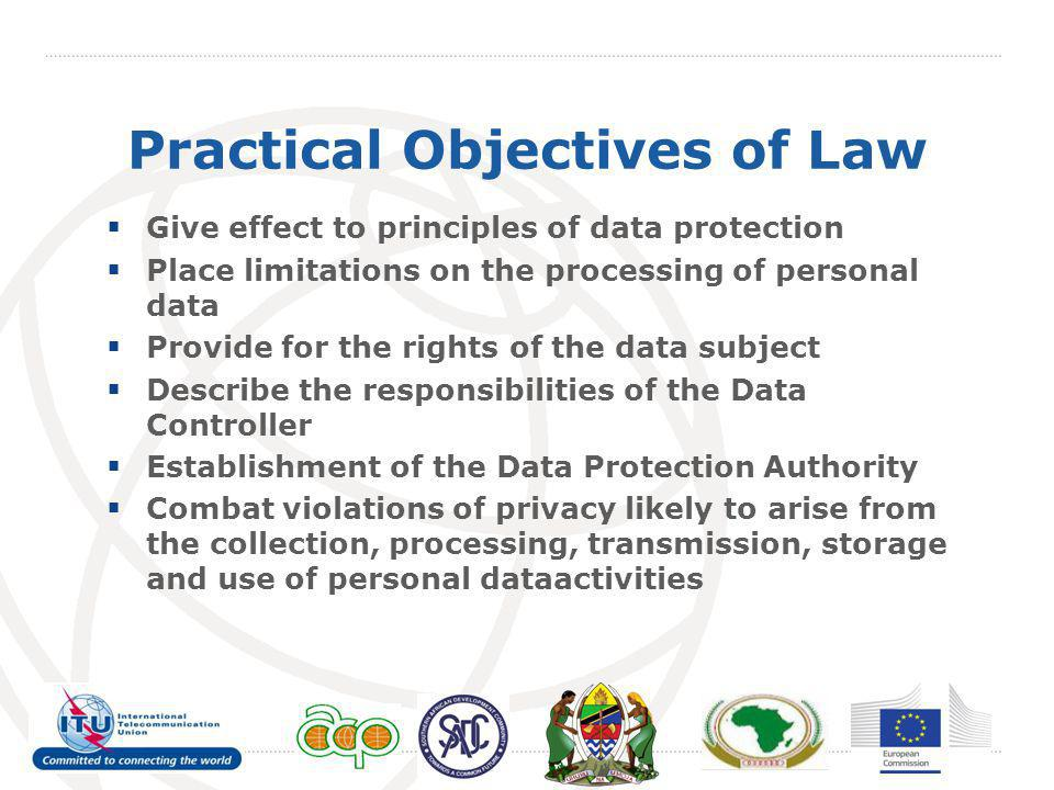 Practical Objectives of Law