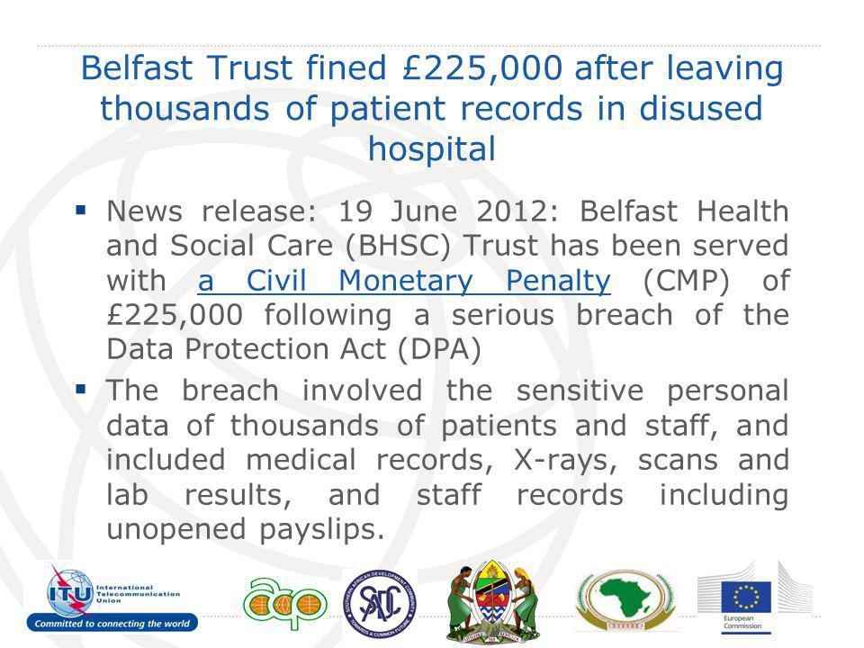 Belfast Trust fined £225,000 after leaving thousands of patient records in disused hospital