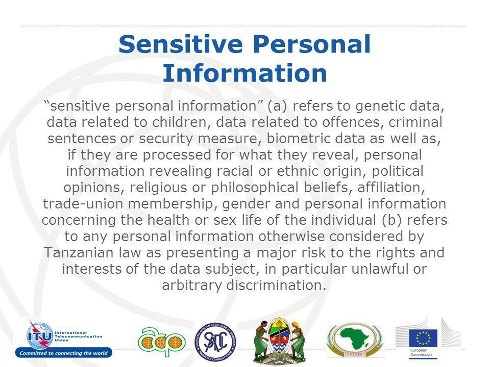 Sensitive Personal Information