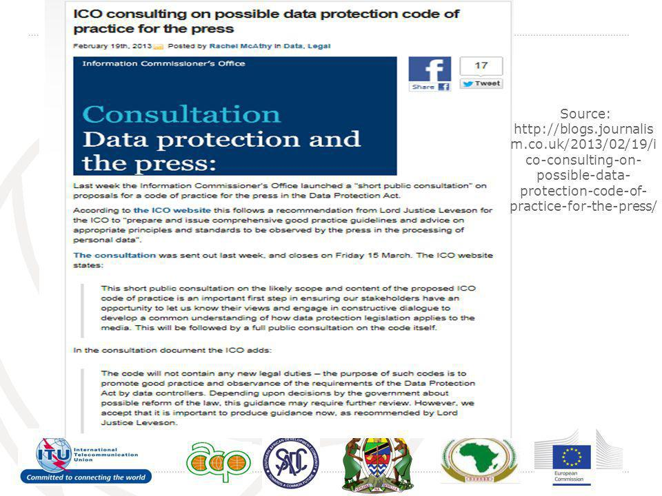 Source: http://blogs.journalism.co.uk/2013/02/19/ico-consulting-on-possible-data-protection-code-of-practice-for-the-press/
