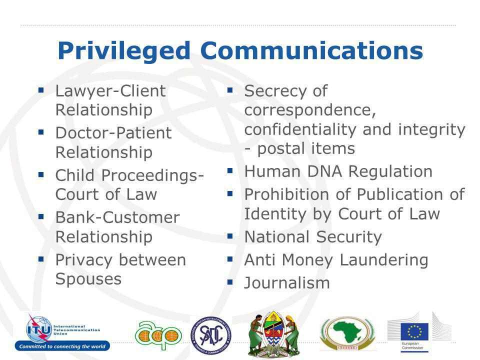 Privileged Communications