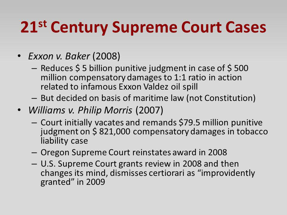21st Century Supreme Court Cases