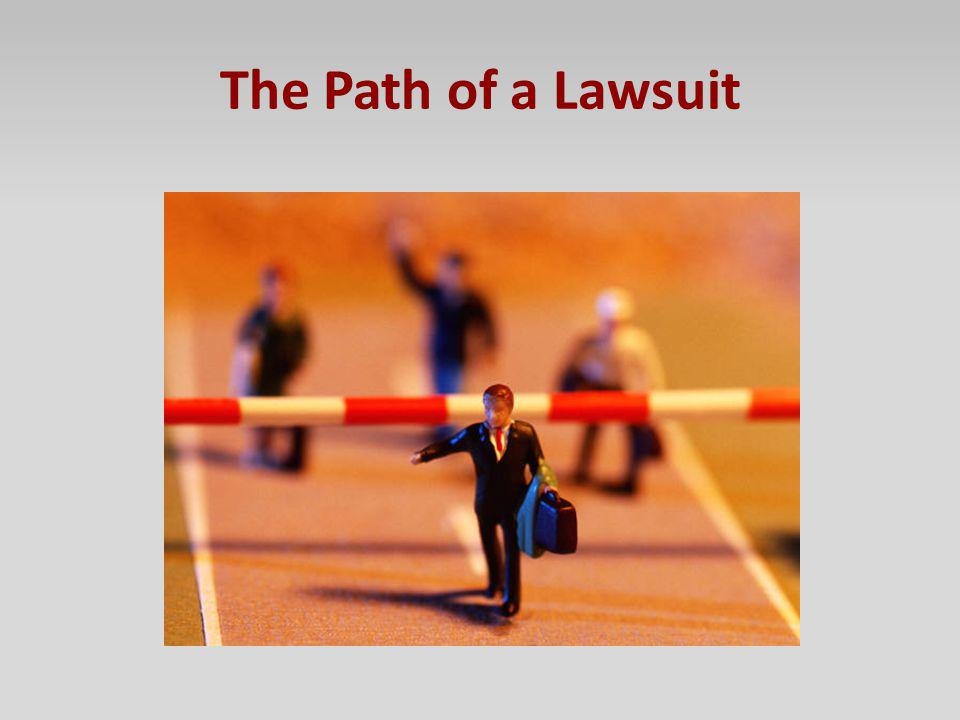 The Path of a Lawsuit