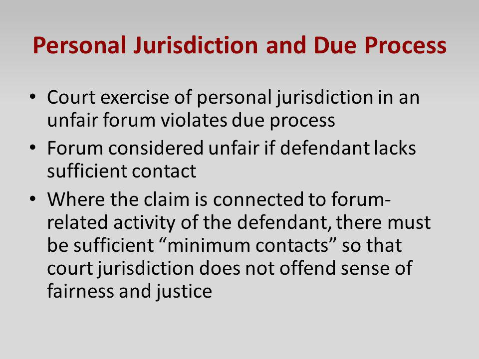 Personal Jurisdiction and Due Process
