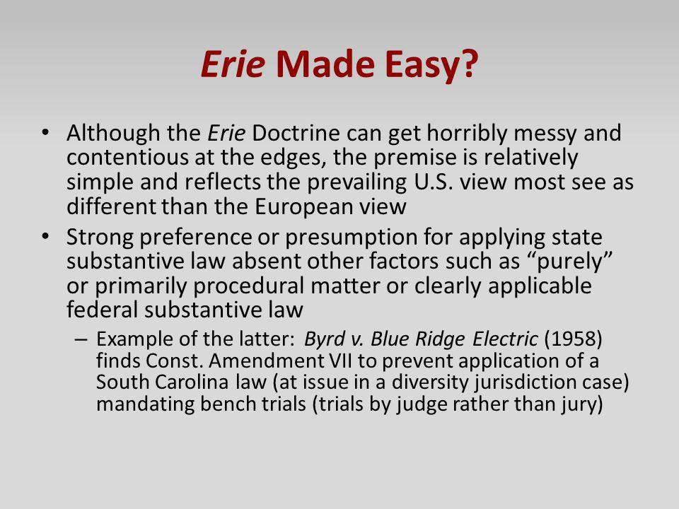 Erie Made Easy
