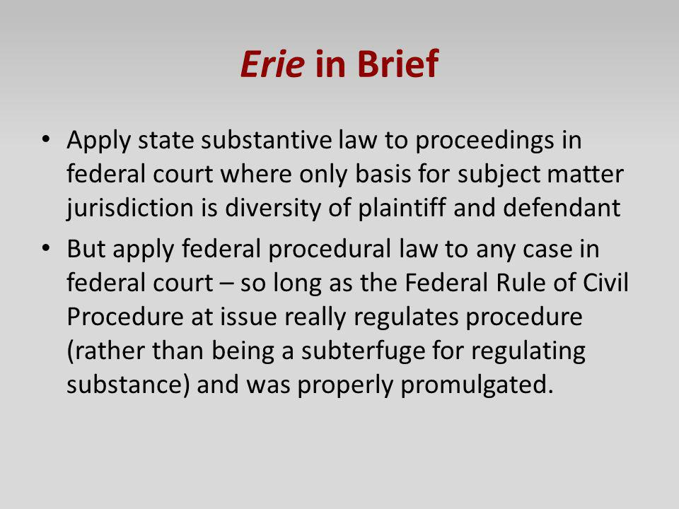 Erie in Brief