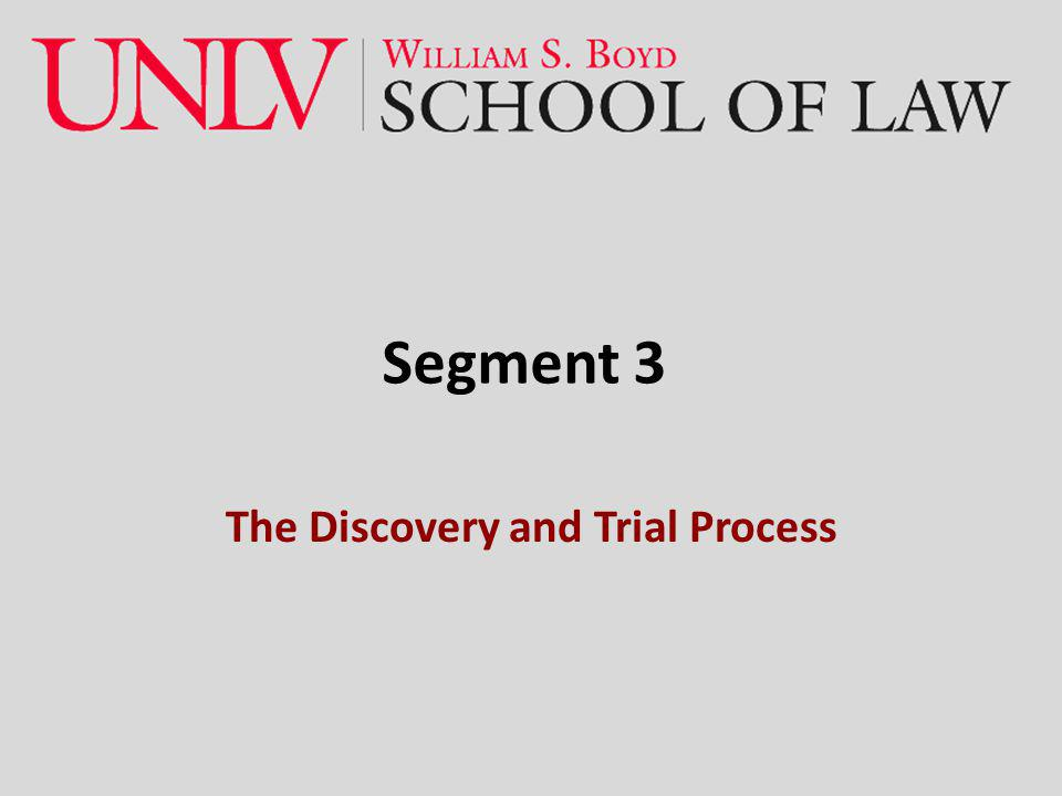 The Discovery and Trial Process