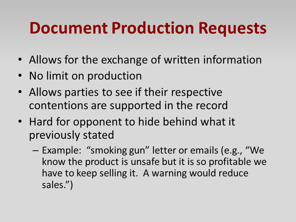 Document Production Requests