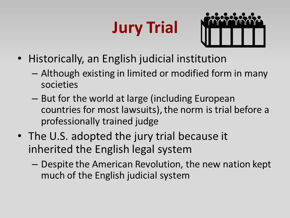 Is the american jury system still