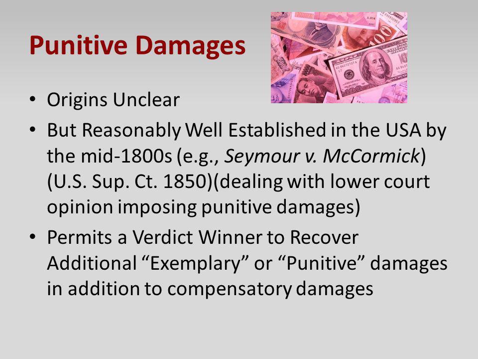 Punitive Damages Origins Unclear