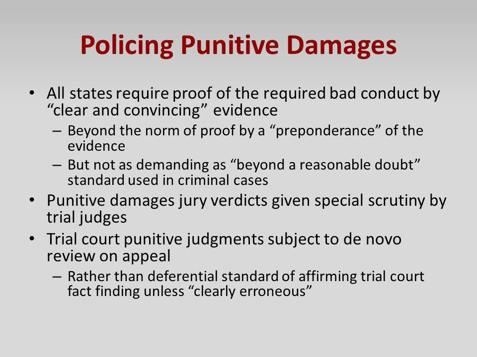 Policing Punitive Damages