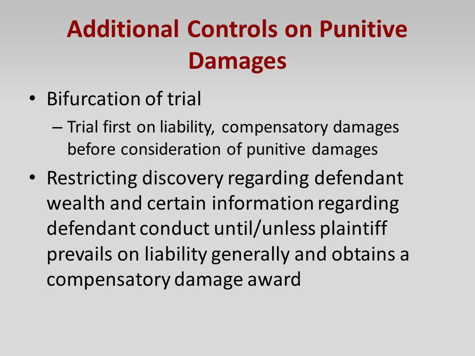 Additional Controls on Punitive Damages