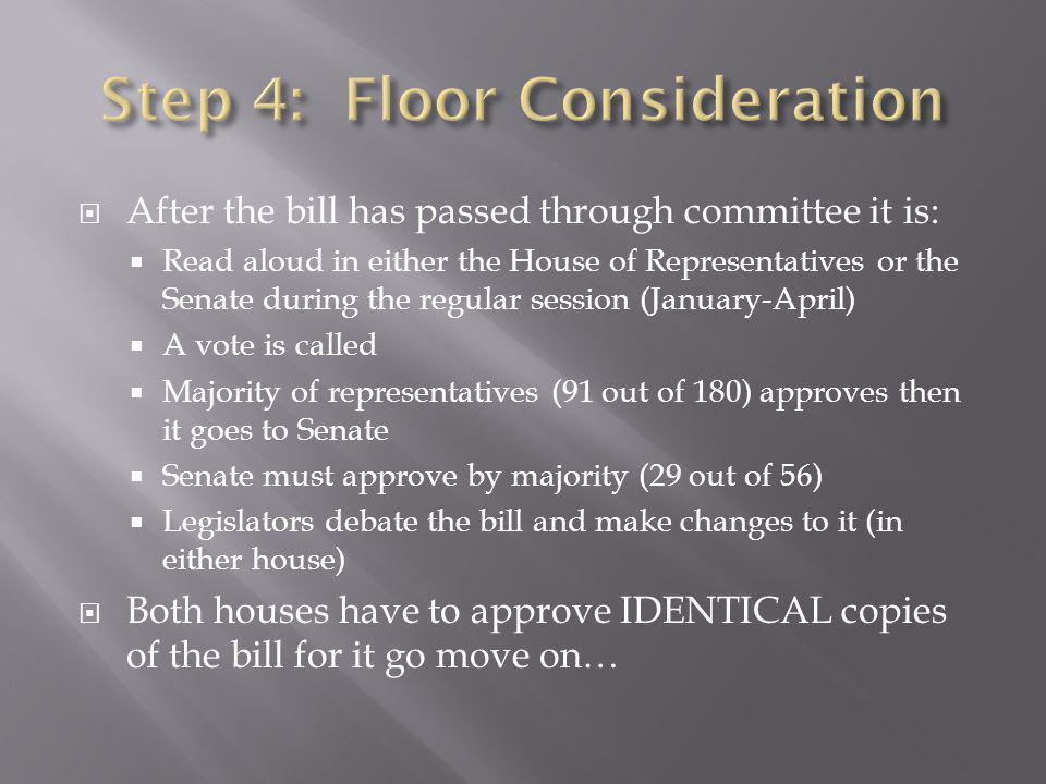 Step 4: Floor Consideration