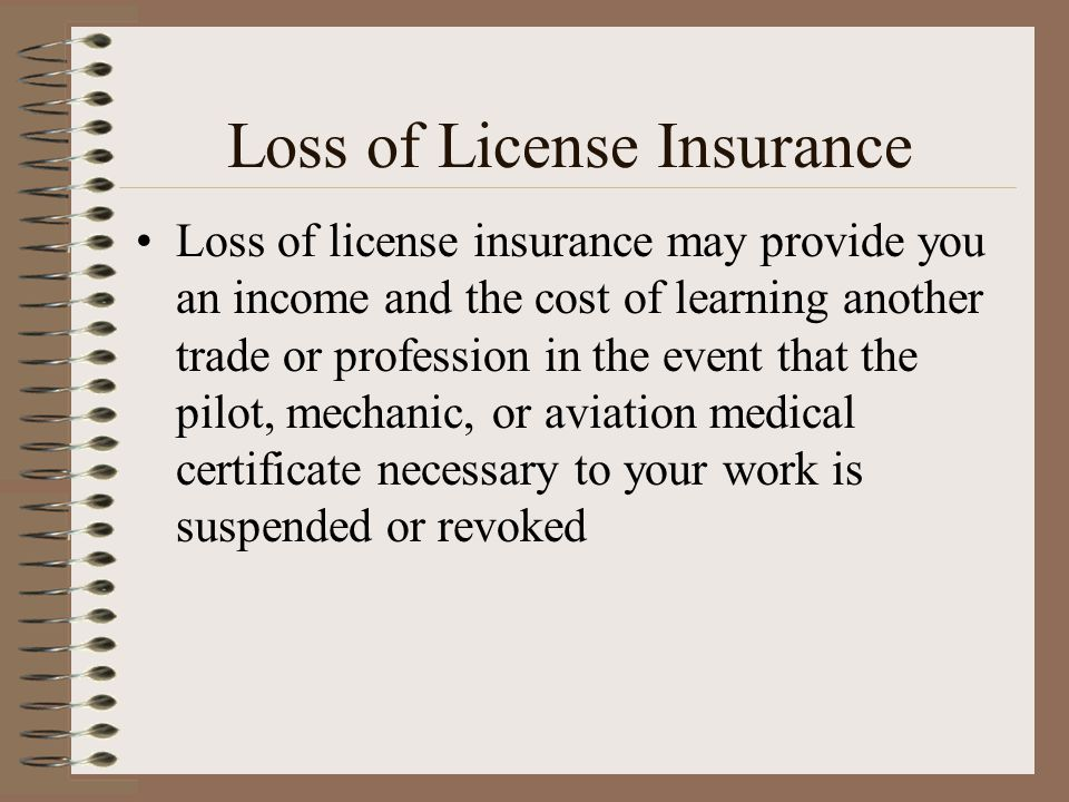 Loss of License Insurance