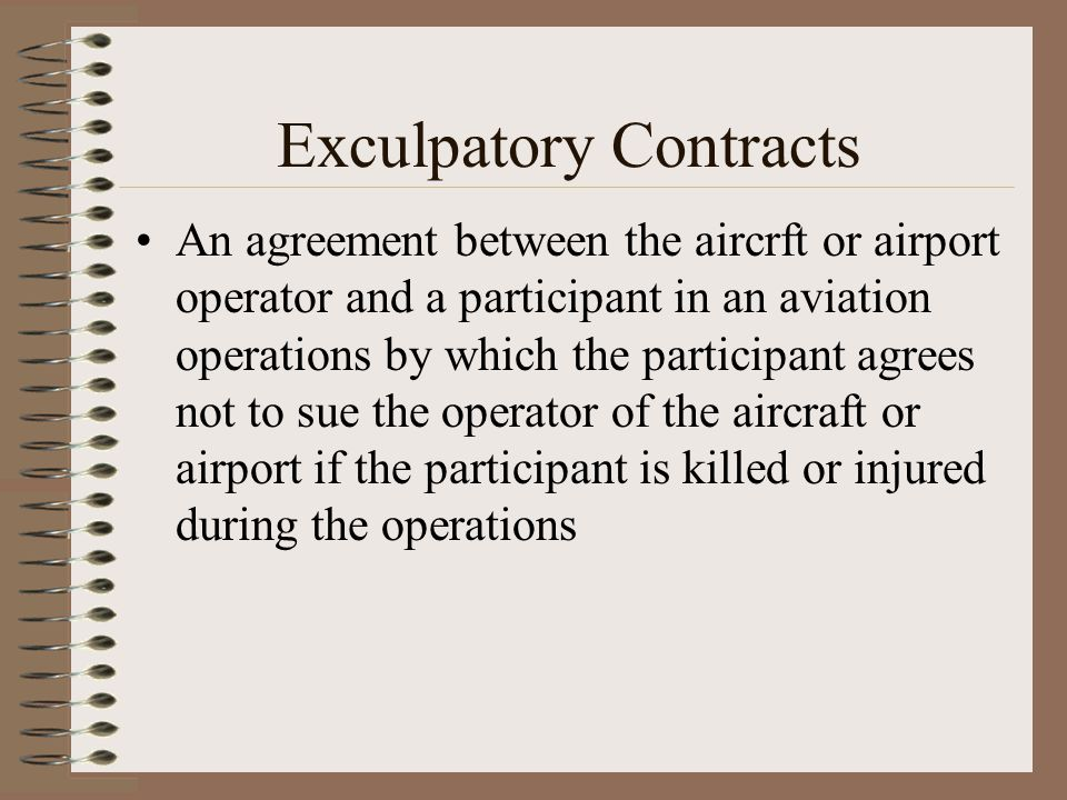 Exculpatory Contracts