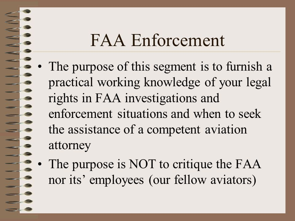 FAA Enforcement