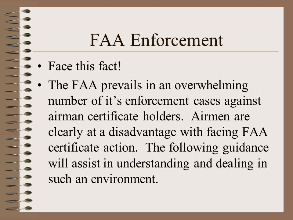 FAA Enforcement Face this fact!