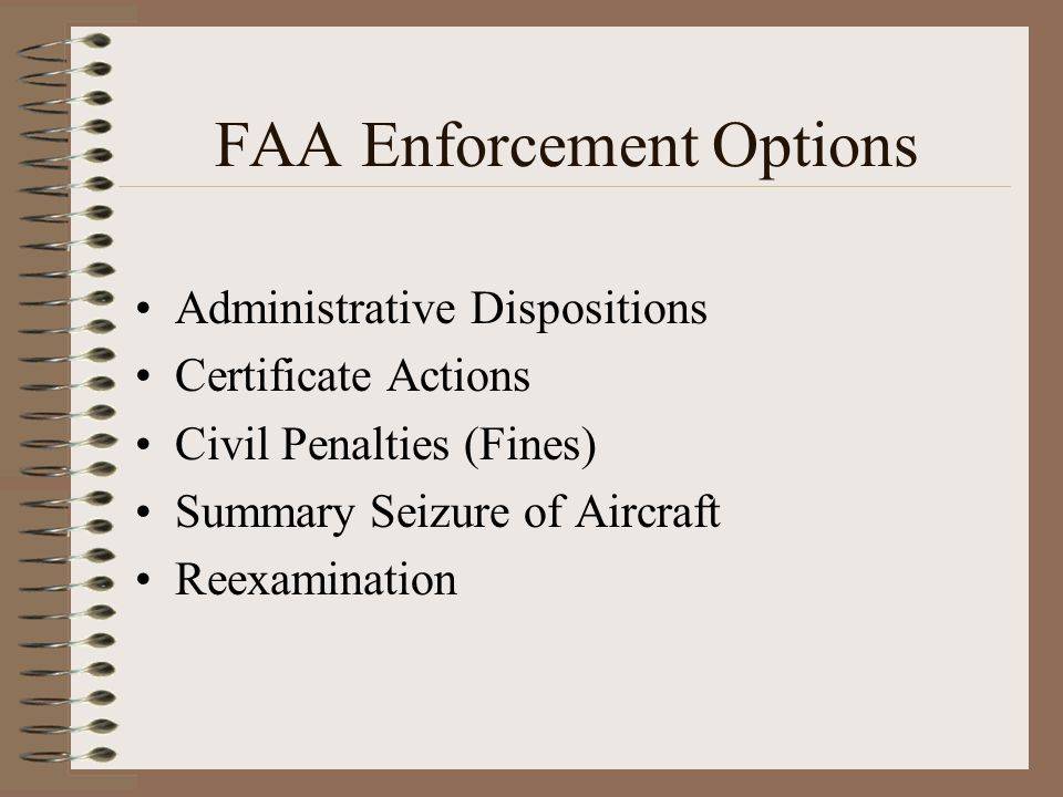 FAA Enforcement Options