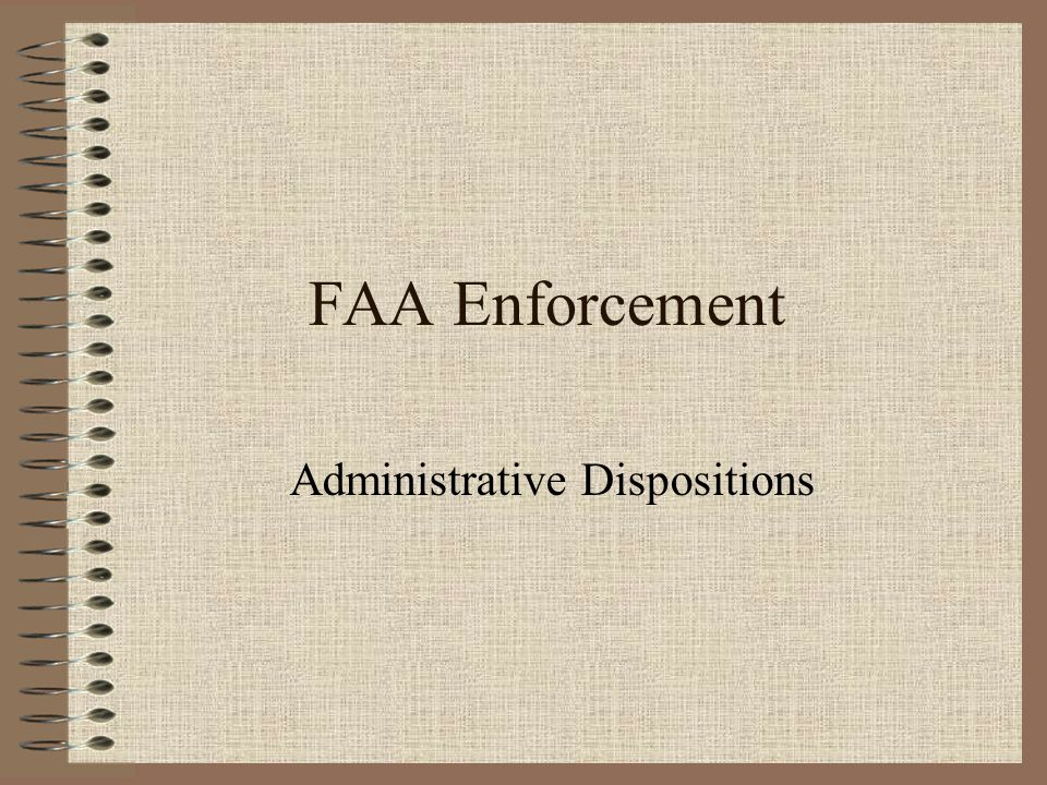 Administrative Dispositions