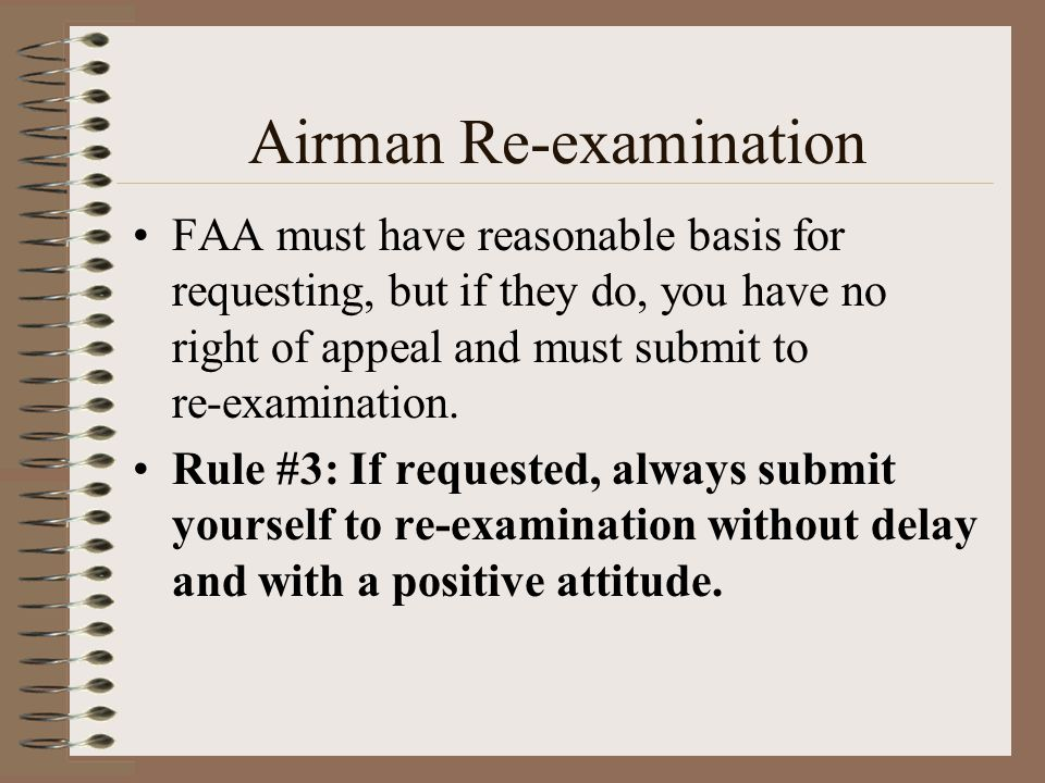 Airman Re-examination