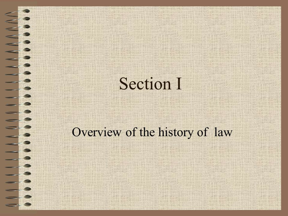 Overview of the history of law