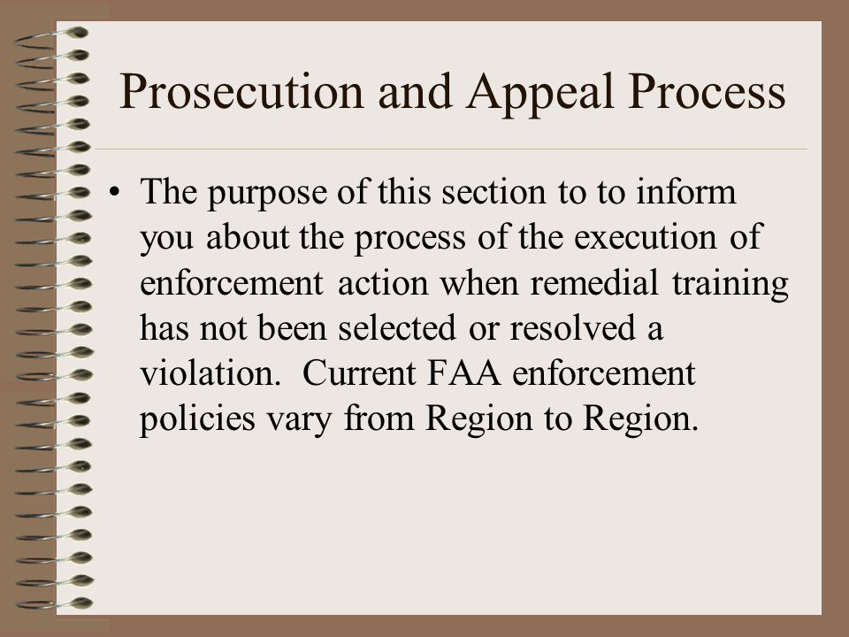 Prosecution and Appeal Process