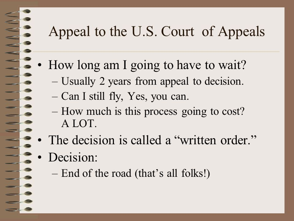 Appeal to the U.S. Court of Appeals