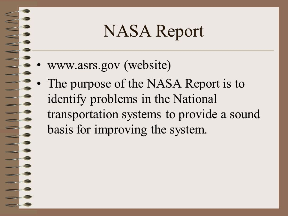 NASA Report www.asrs.gov (website)