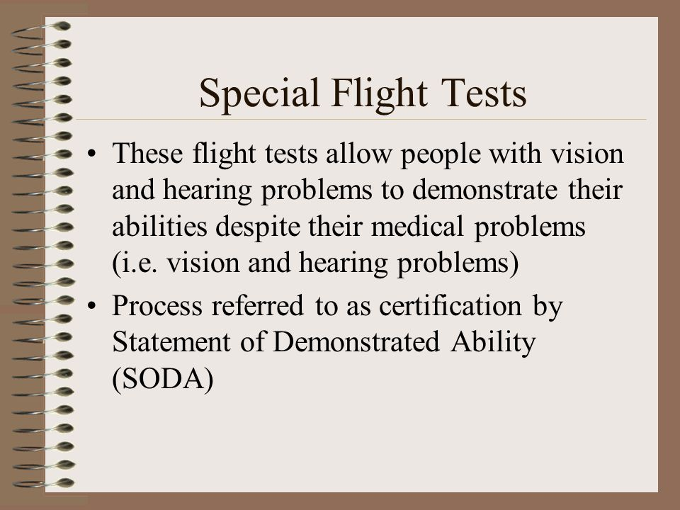 Special Flight Tests