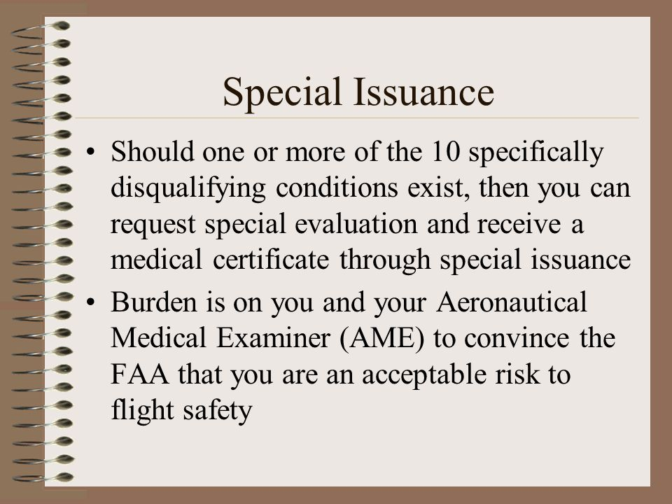 Special Issuance