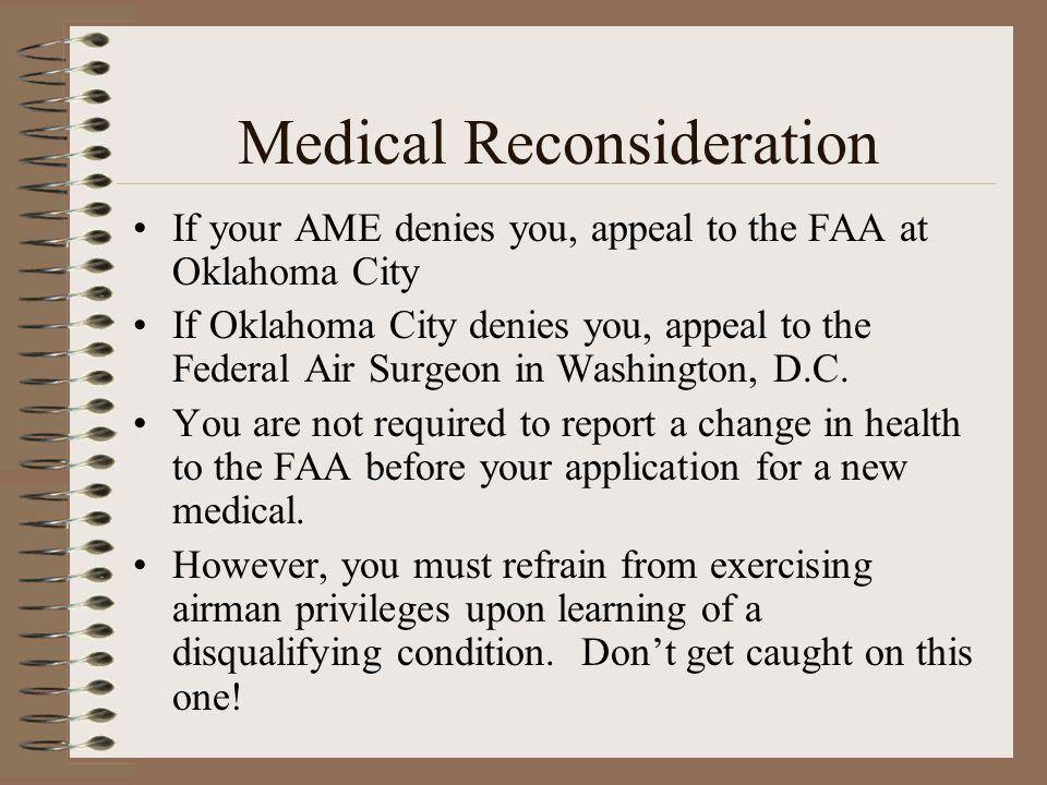 Medical Reconsideration