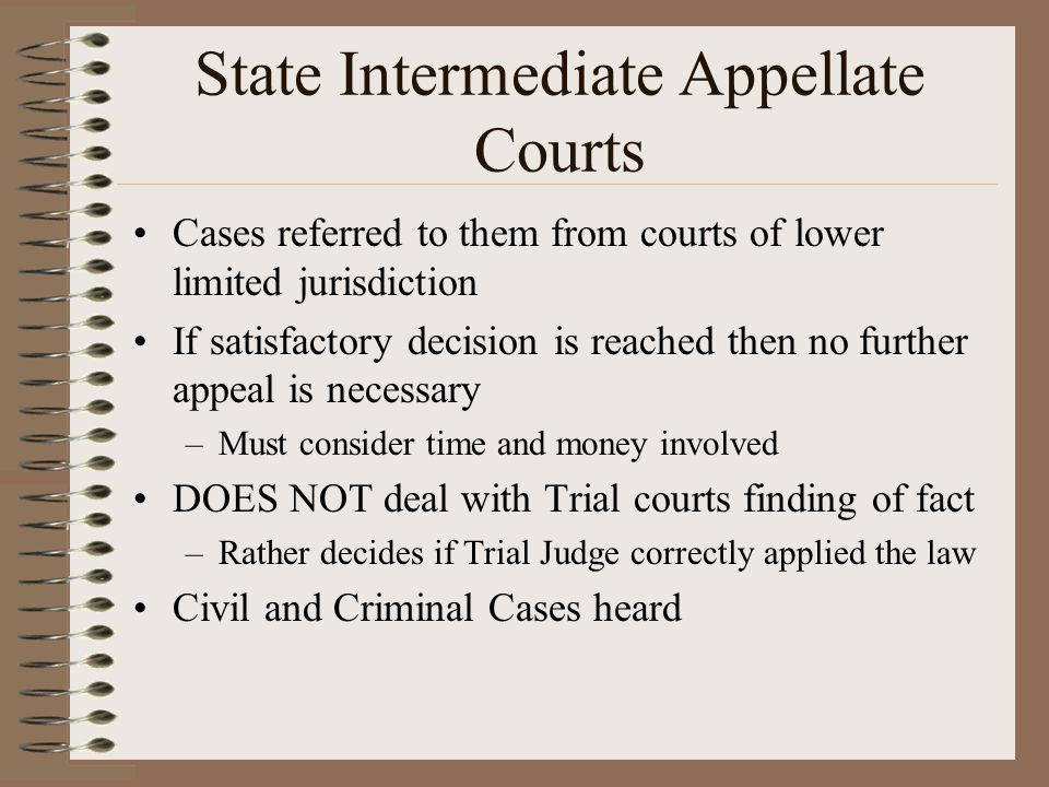 State Intermediate Appellate Courts