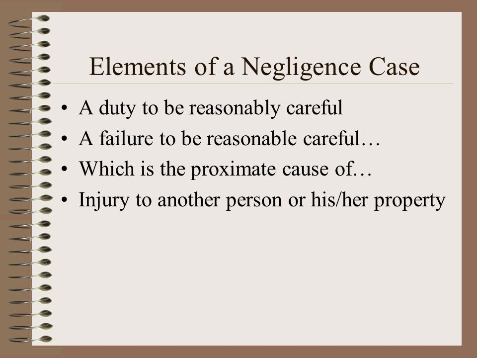Elements of a Negligence Case