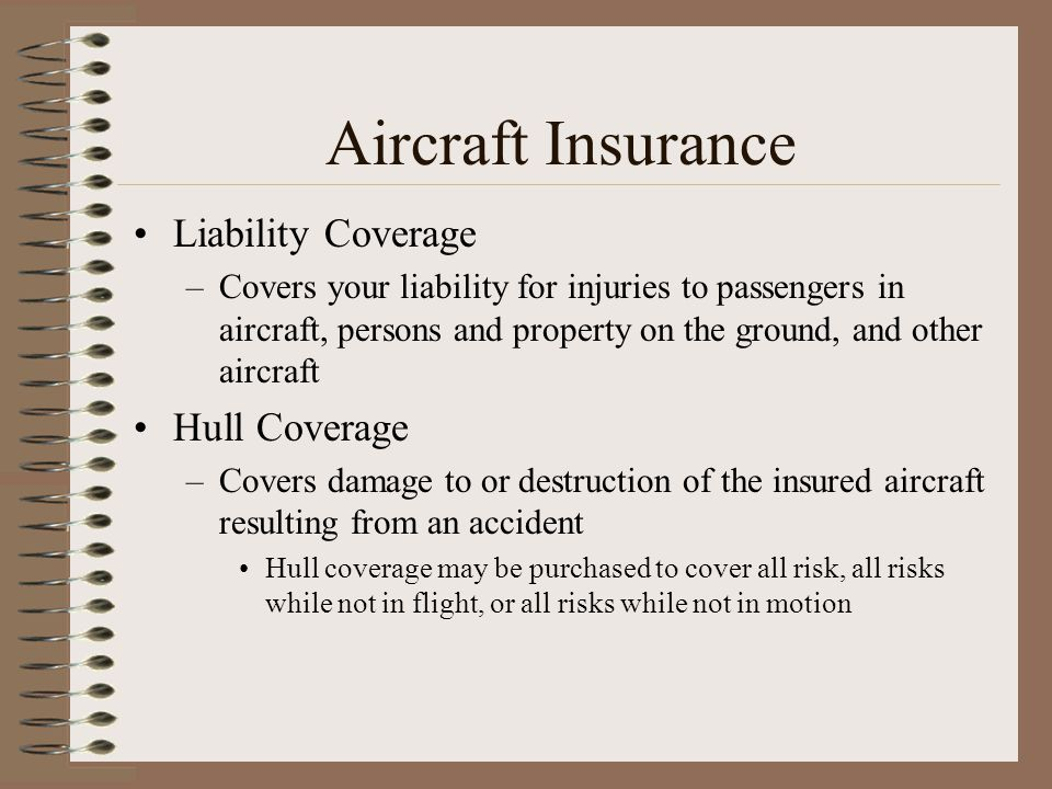 Aircraft Insurance Liability Coverage Hull Coverage