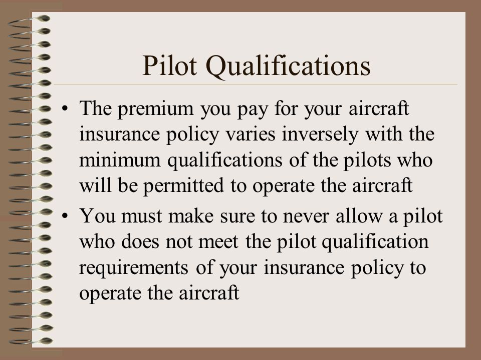 Pilot Qualifications