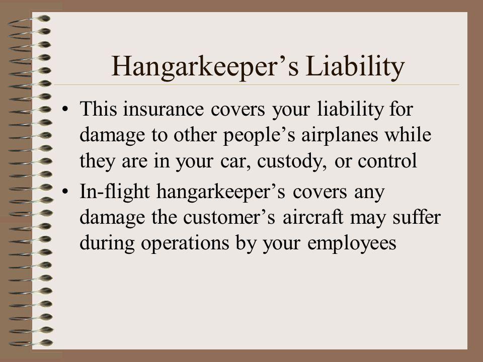 Hangarkeeper's Liability